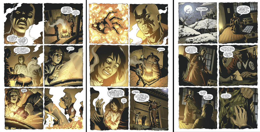 Snake Eyes Storm Shadow flash backs by juan7fernandez