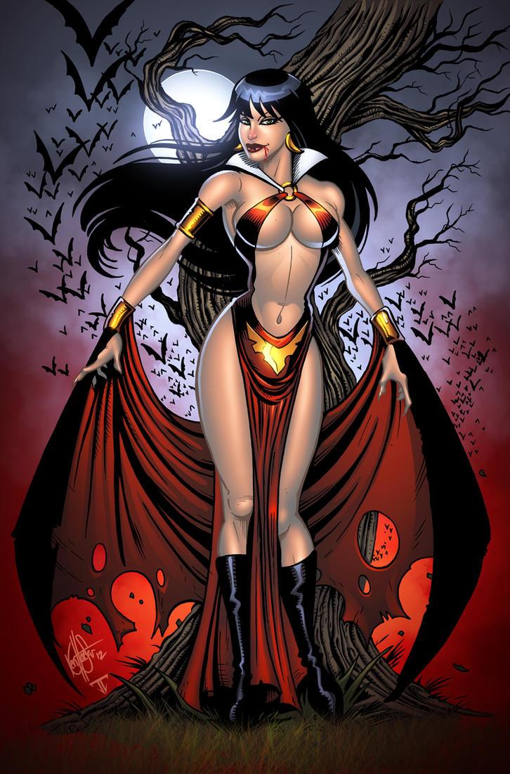 Vampirella by Ken Haeser by juan7fernandez