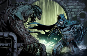 Killer Croc Vs Batman by juan7fernandez
