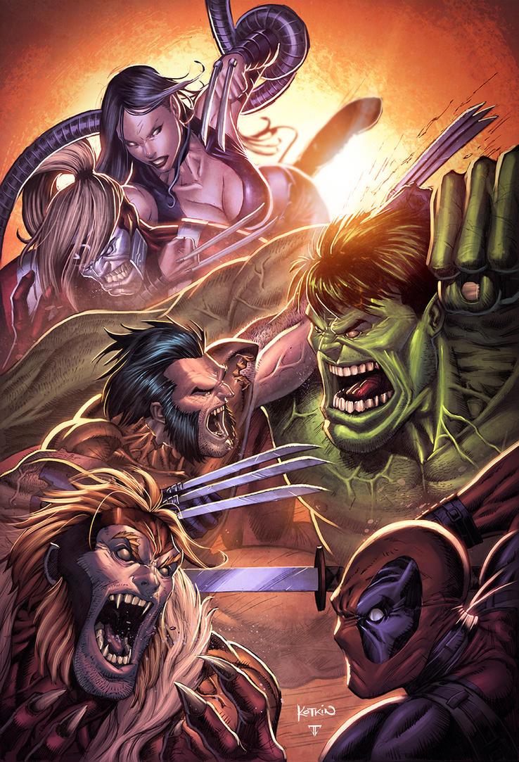 Marvel Brawl by juan7fernandez