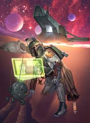 Boba Fett Droid Hunt by juan7fernandez