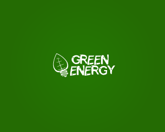 Green energy logo by KasperaviciusR