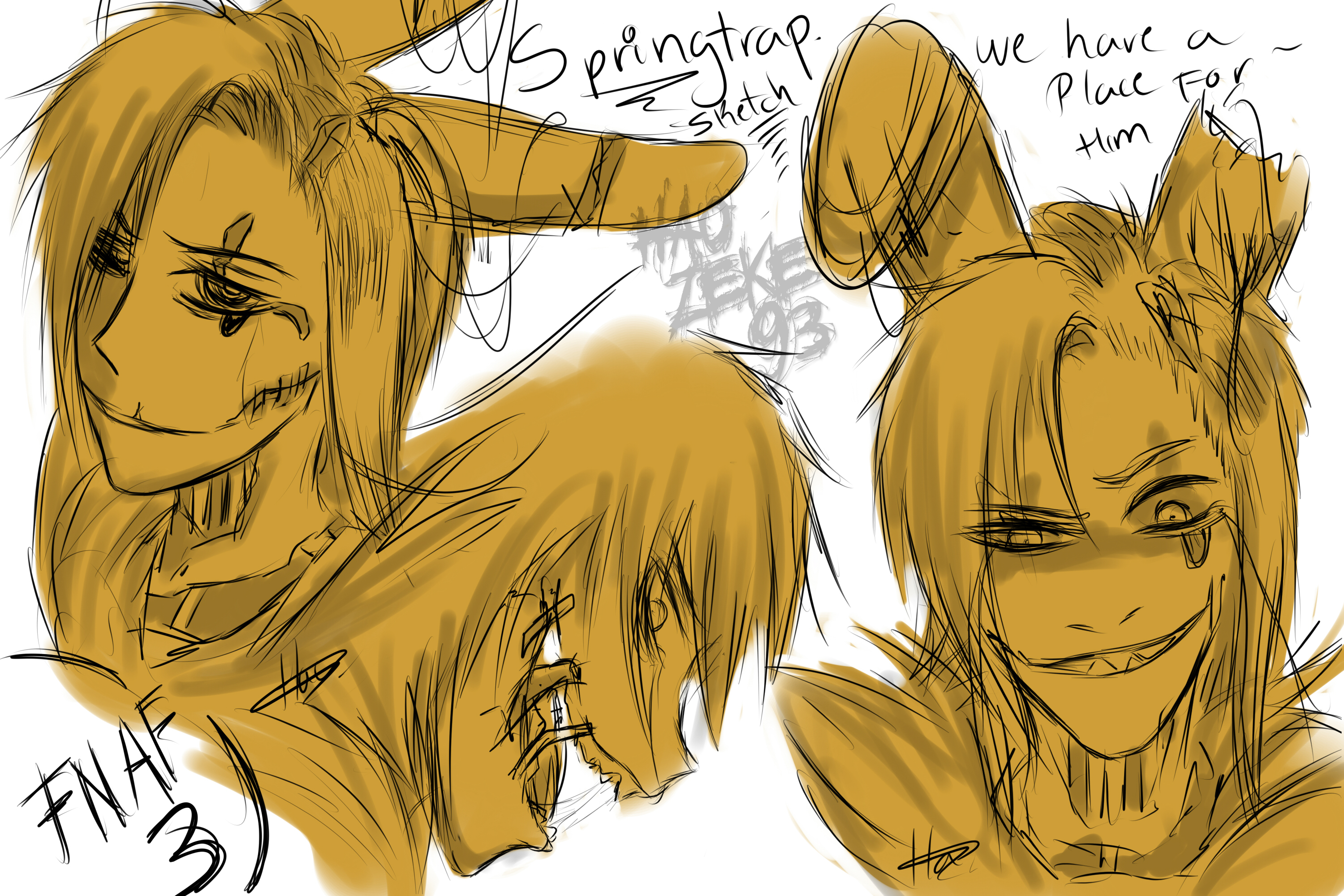 Phone guy x purple guy fanfic lemon - Springtrap Sketch By Haozeke93