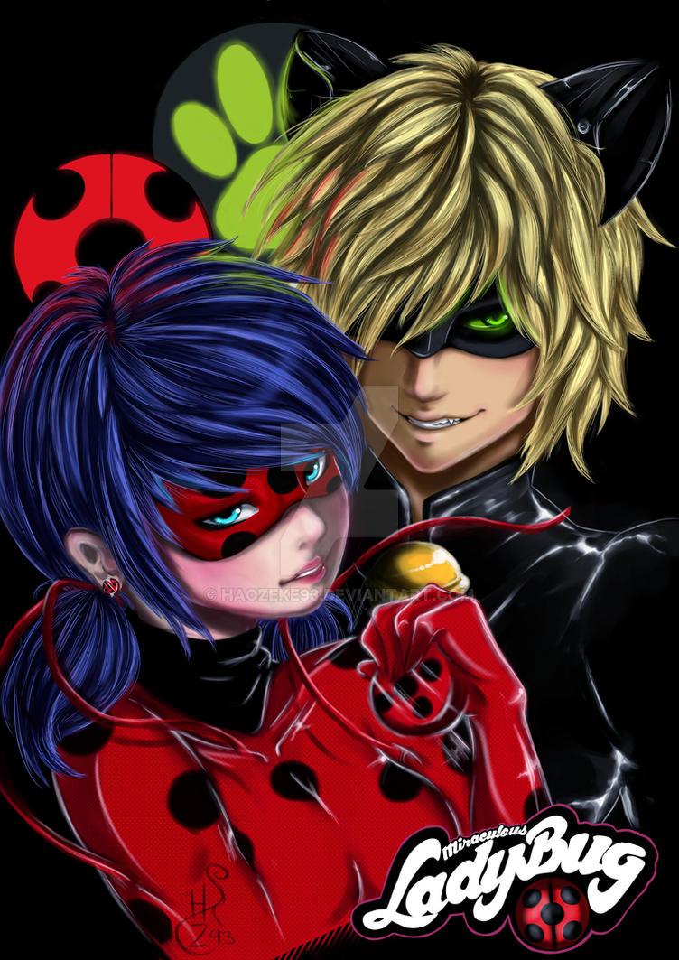 Miraculous Ladybug And Chatnoir by haozeke93