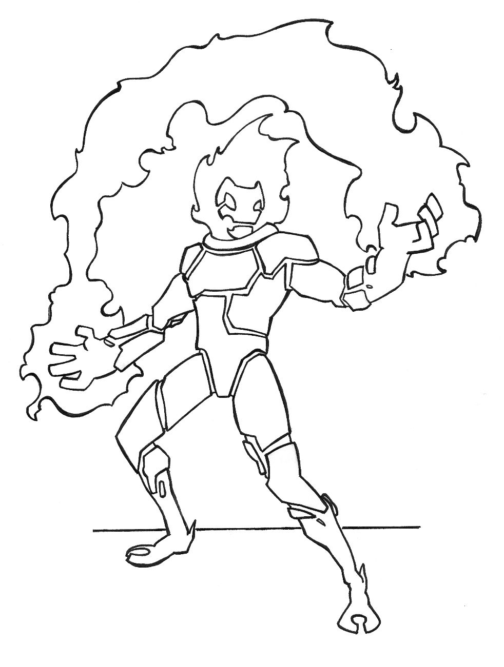 Heat blast coloring pages ~ Pyronite Lineart by DaniloHokama on DeviantArt
