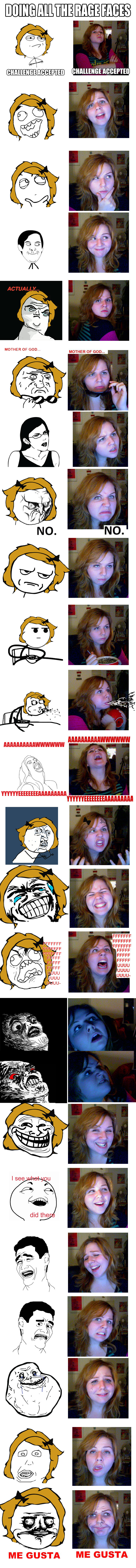 Rage Faces - me imitating by mayu