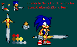 Cailburn Sonic Sprite by Yoshi101333