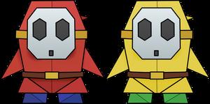 Origami Shy Guys