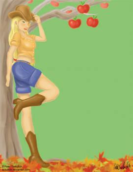 My Little Pin-up:  Applejack