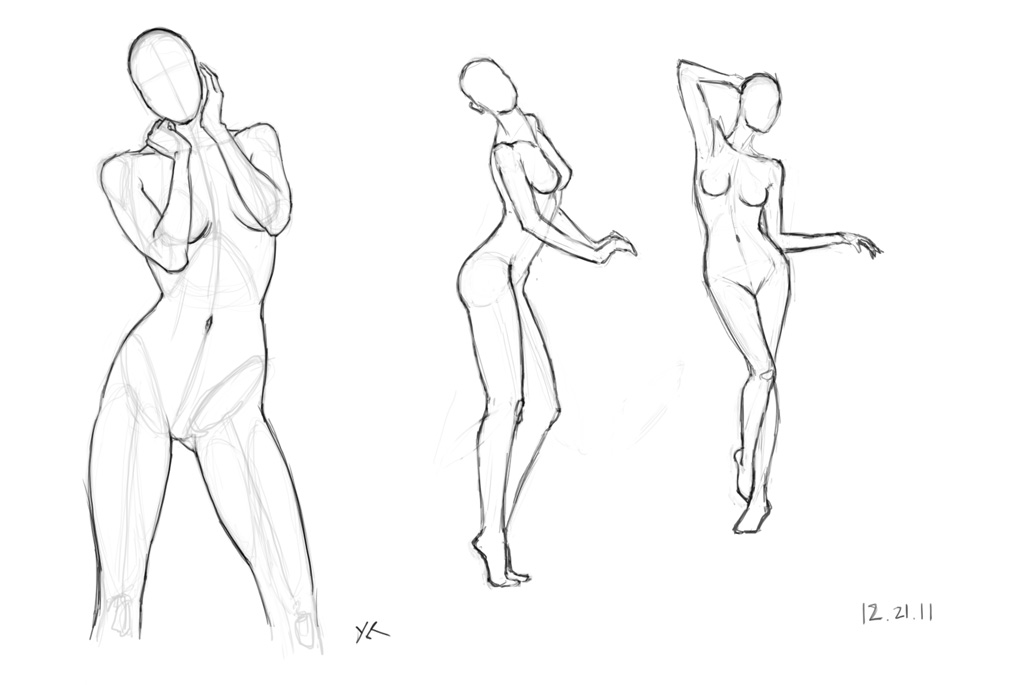 Fem Figure Study 3 by CrimsonXK