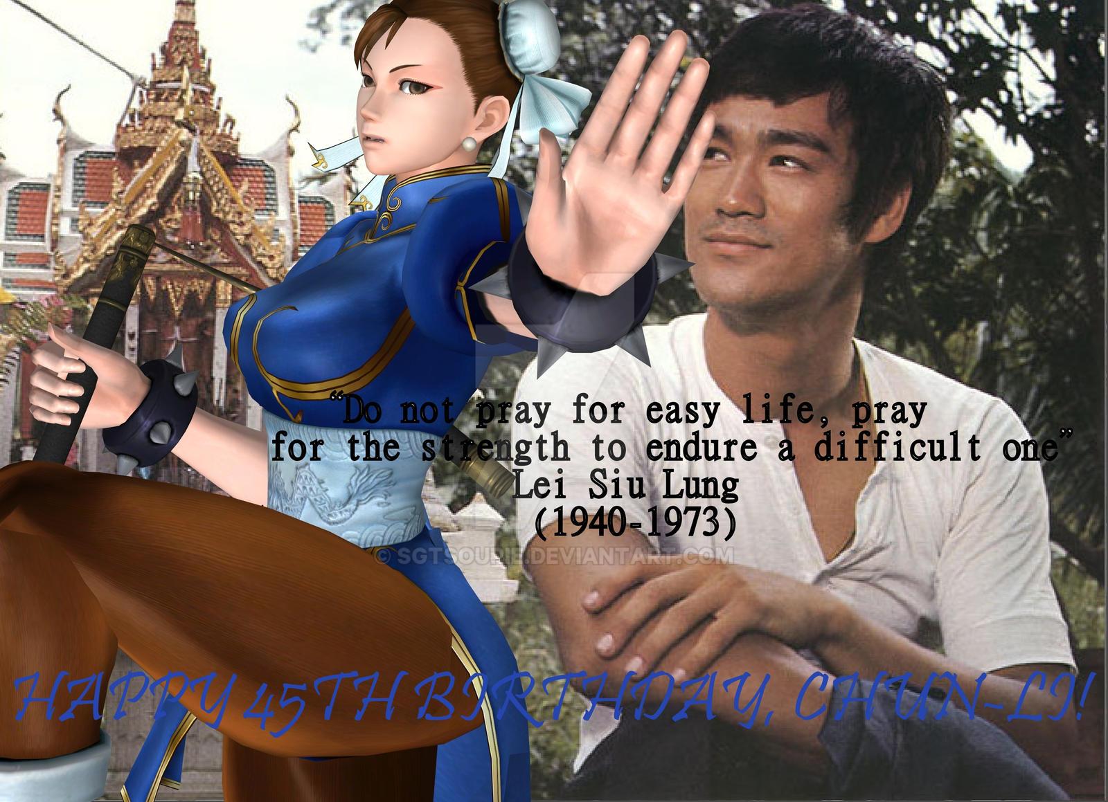 Happy birthday, Chun-Li! by Sgtsoupie