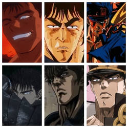 Manly anime old vs new