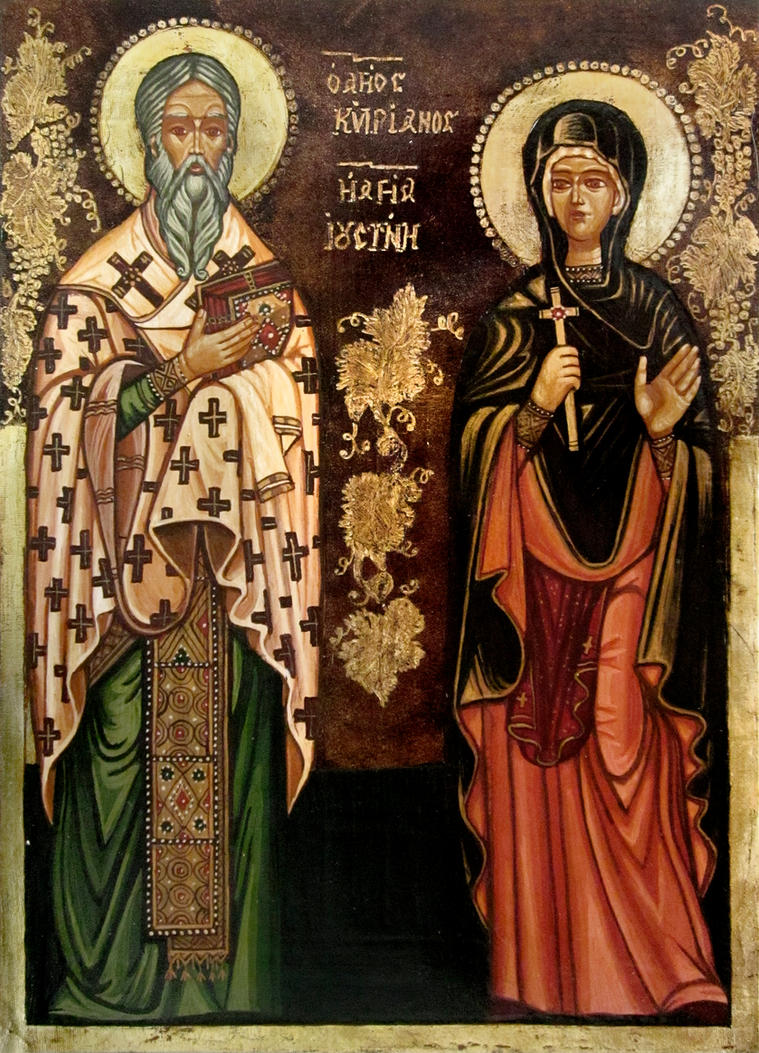 St. S. Cyprian and Justina by GalleryZograf