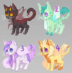 Auction CLOSED - Colorful cats (adopt batch)