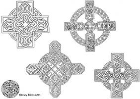 Flash - Celtic Crosses 1 Line by sidneyeileen