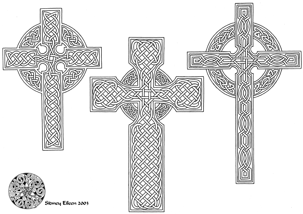 Cross Tattoo Line Drawing : Flash celtic crosses line by sidneyeileen on deviantart