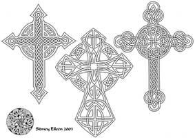 Flash - Celtic Crosses 3 Line by sidneyeileen