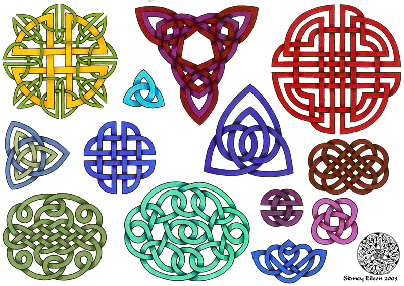 flash celtic knots 1 by sidneyeileen - Celtic Patterns To Colour