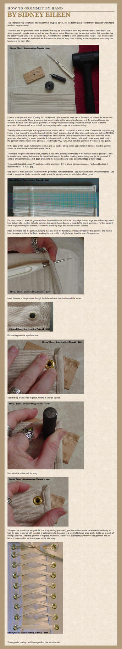 How to Grommet By Hand by sidneyeileen