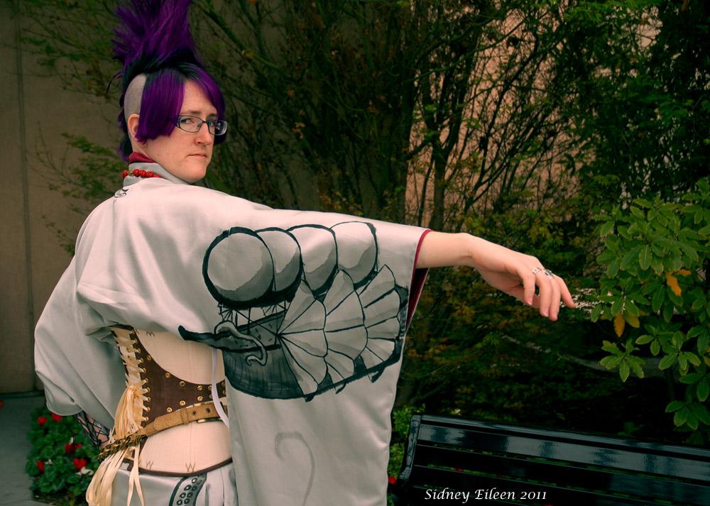 Silver Steampunk Kimono by sidneyeileen