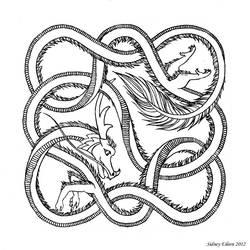 Woven Celestial Dragon - Line
