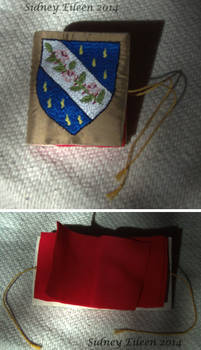 Silk and Felt Heraldric Needlebook
