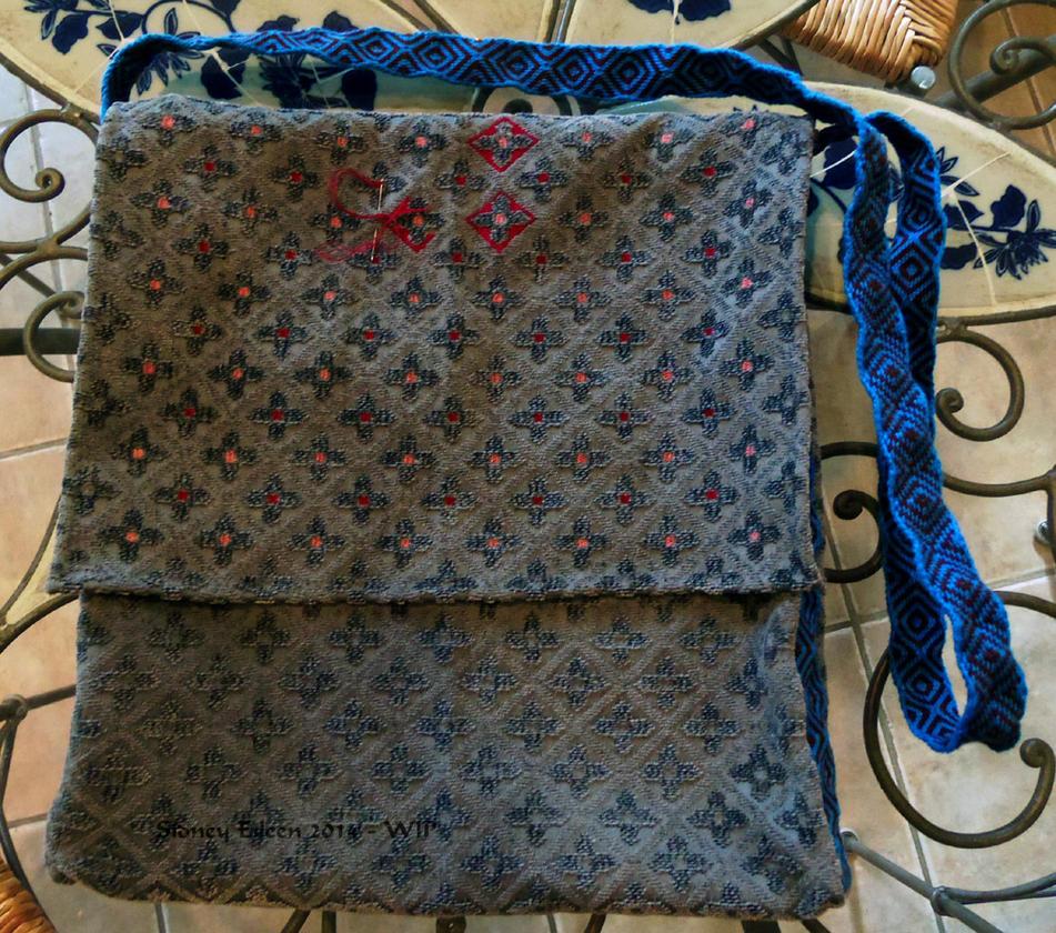 Blue Pilgrim Bag - WIP1 by sidneyeileen