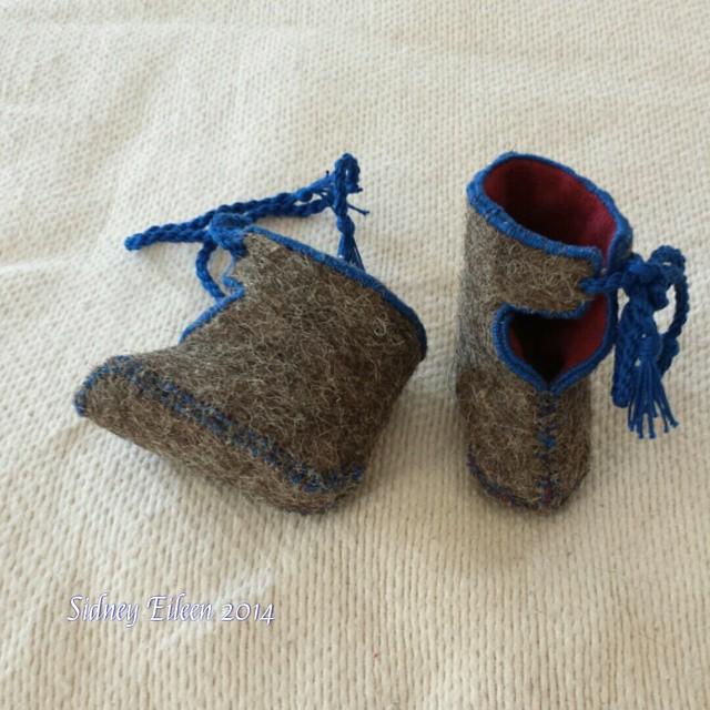 Viking Baby Booties by sidneyeileen