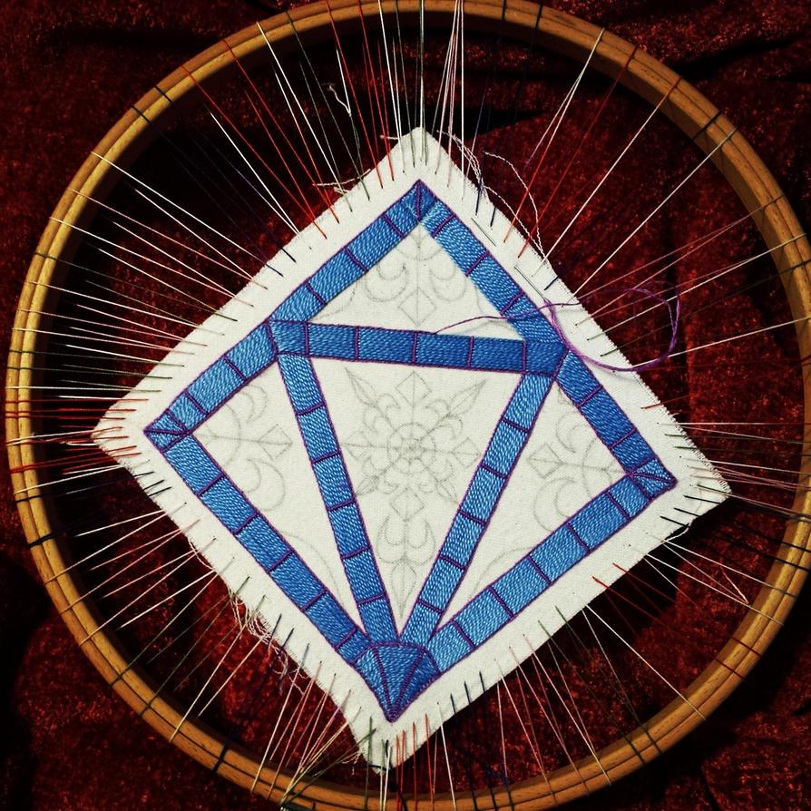 Embroidered Scissor Case - WIP1 by sidneyeileen