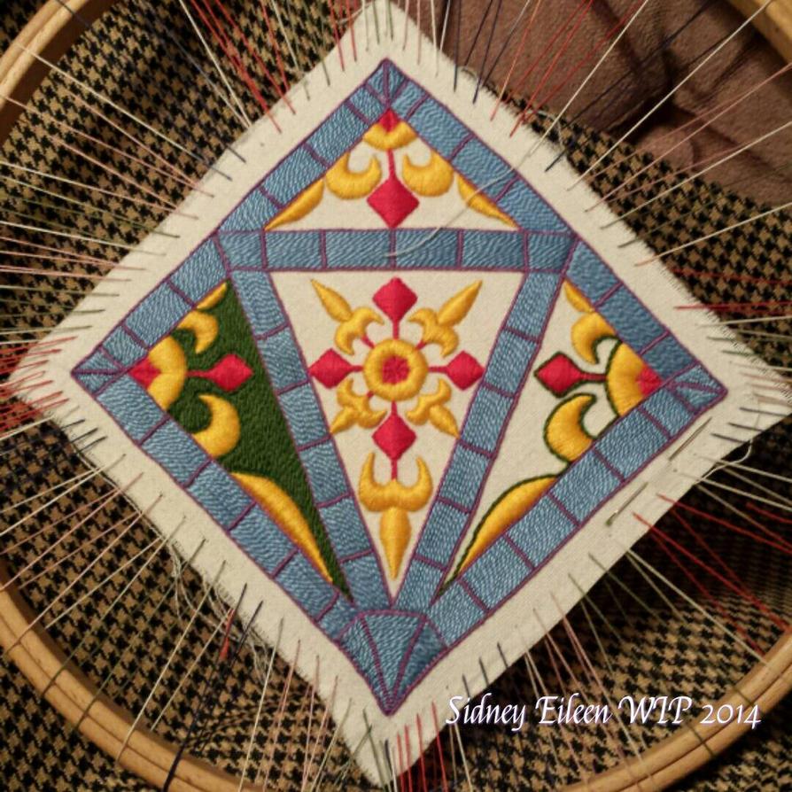 Embroidered Scissor Case WIP3 by sidneyeileen