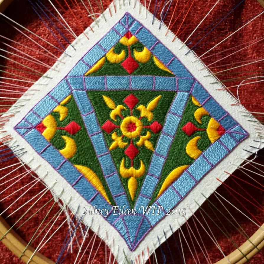 Embroidered Scissor Case WIP4 by sidneyeileen