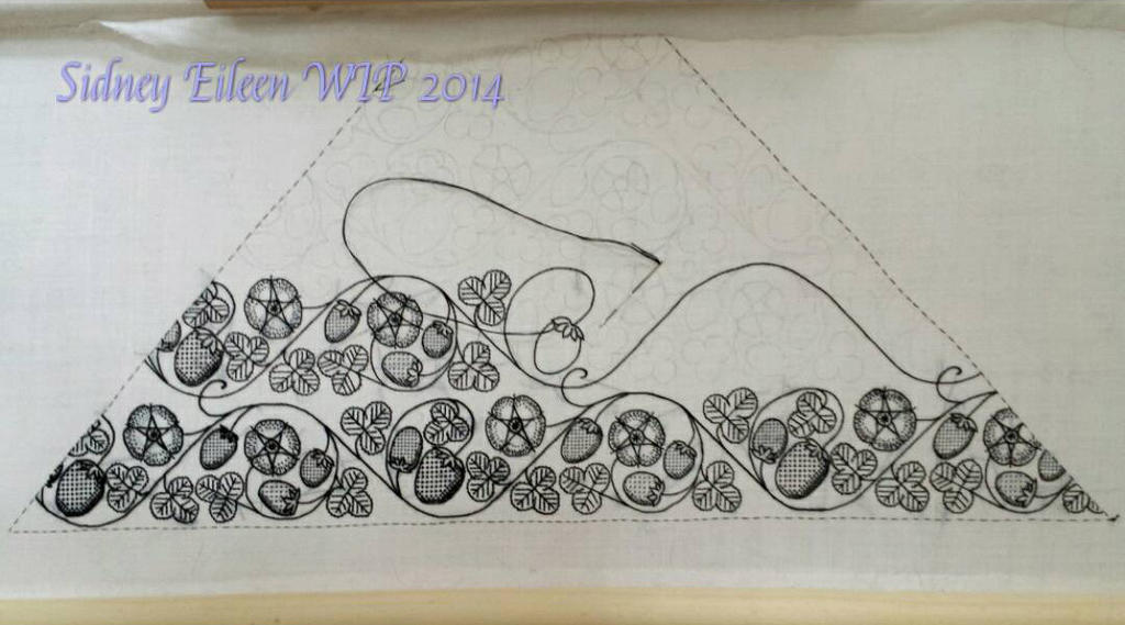 Blackwork Embroidered Forehead Cloth WIP5 by sidneyeileen