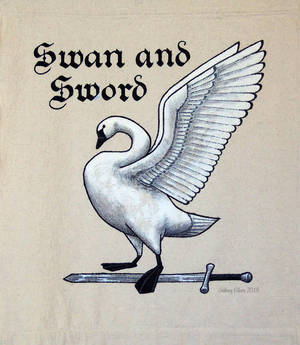 Swan and Sword Sign Banner