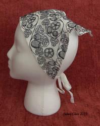 Blackwork Embroidered Forehead Cloth