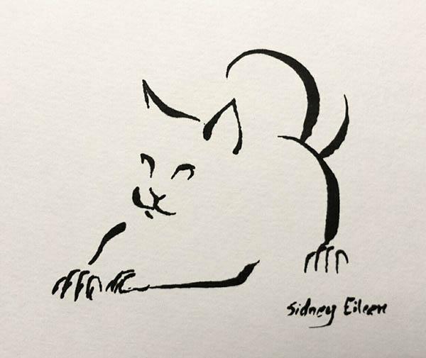 Minimalist Cat 12 by sidneyeileen