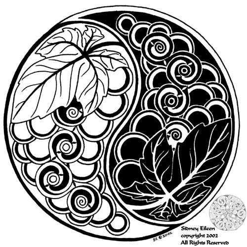 Yin-Yang Grapes by sidneyeileen