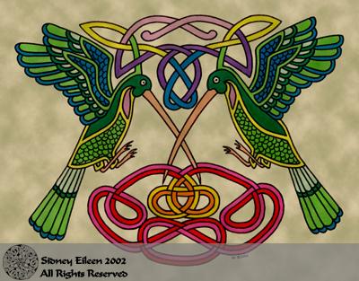 Celtic Hummingbirds by sidneyeileen