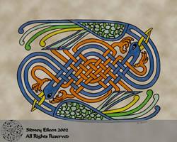 Celtic Knotwork Cranes by sidneyeileen