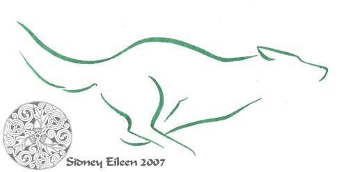 Minimalist Running Wolf 1 by sidneyeileen
