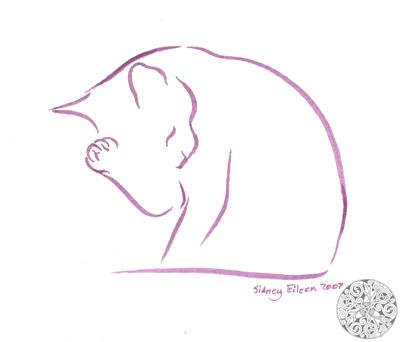 Minimalist Cat 5 by sidneyeileen