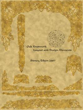 Oak Knotwork Desigs - BW