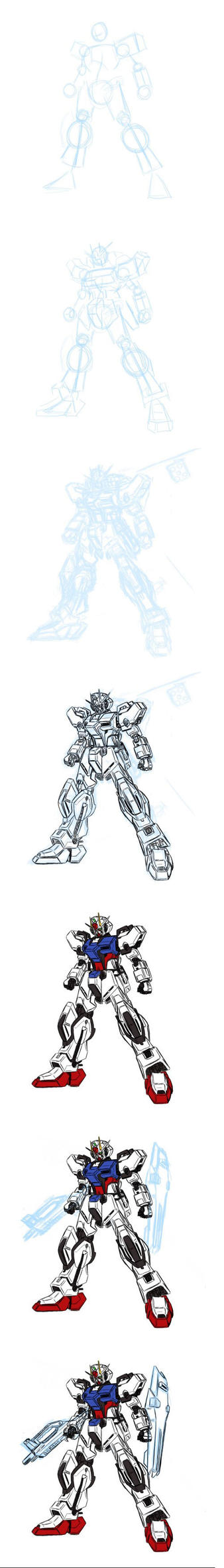 Drawing a side profile Mecha by V2Buster