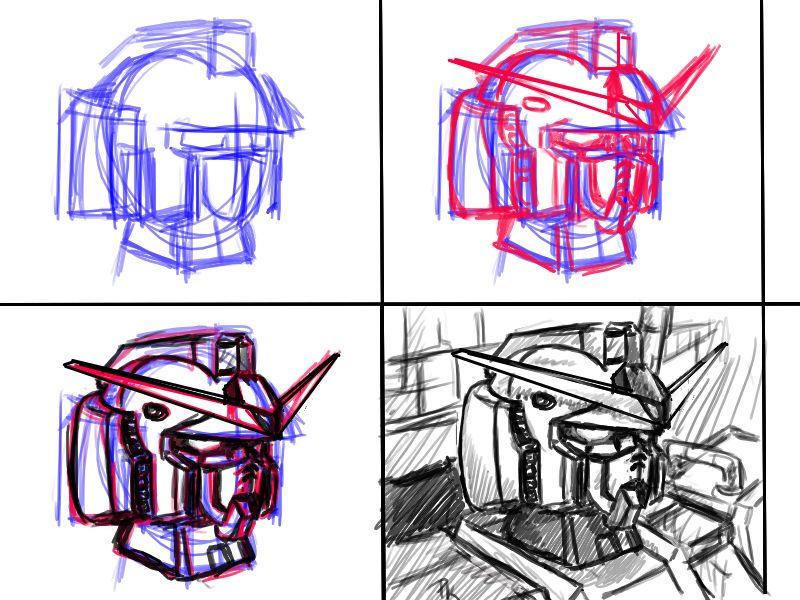 Basic Gundam head by V2Buster
