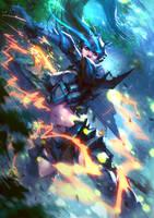 Charge Blade, monster hunter by DigitalSashimi