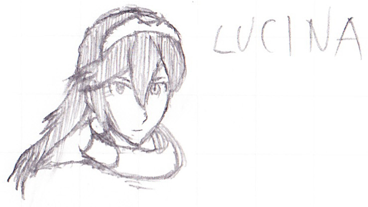 Quick sketch: Fire Emblem's Lucina by DarthKaiser