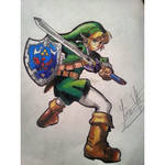 Link from The legend of zelda Drawing