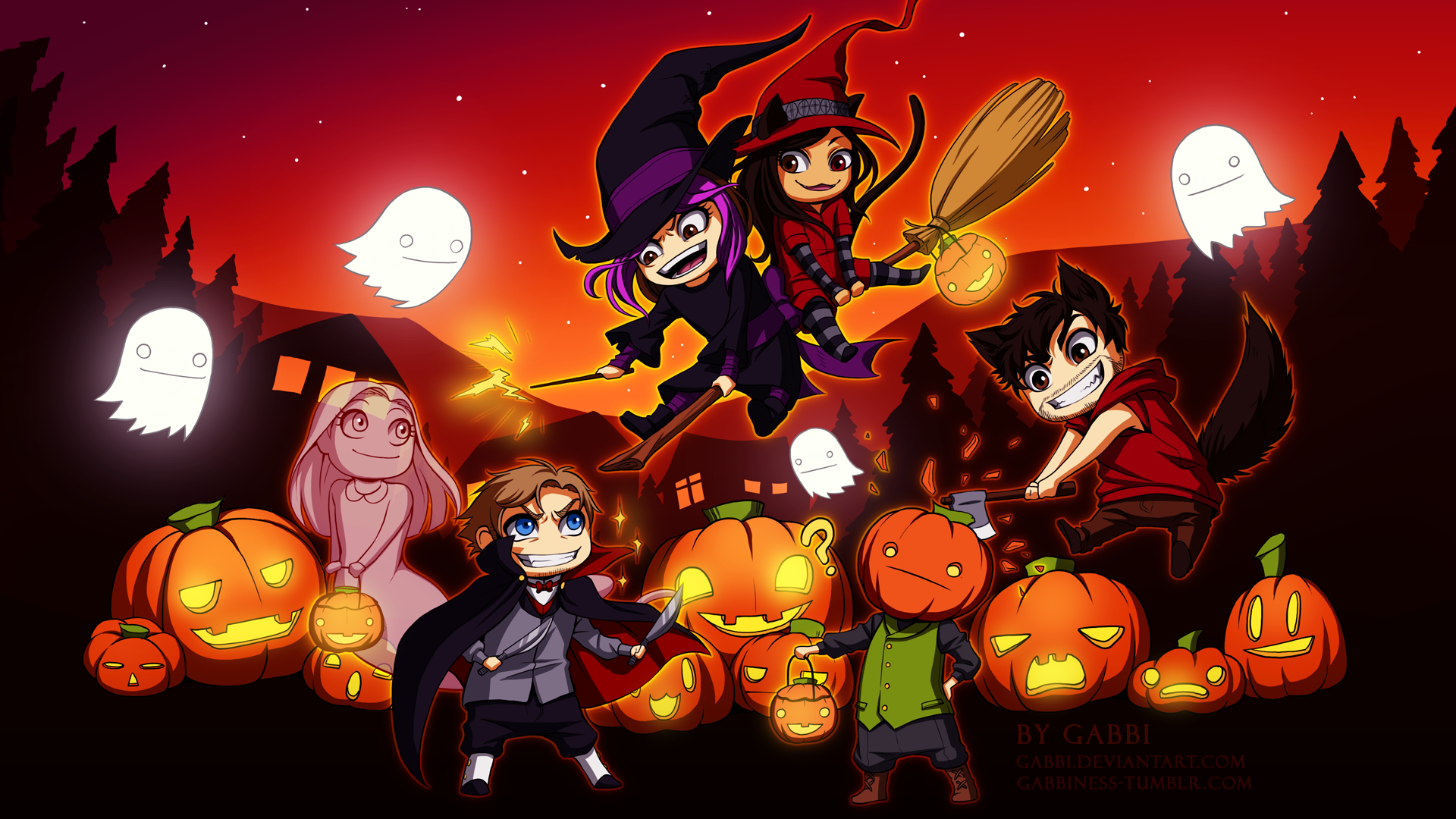 Victubia - Happy Halloween! by Gabbi