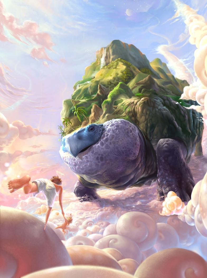 Fantasy Giant Turtle Art