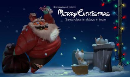 Santa Claus is always in town!