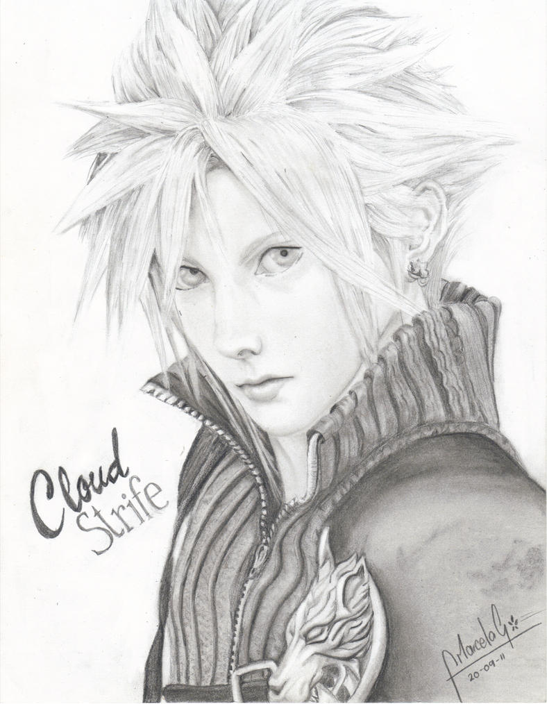 Cloud Strife_ Retrato by FlameMar